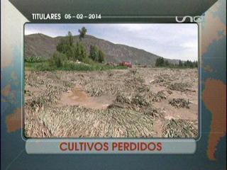 Titulares: Agricultores pierden sus cultivos por las lluvias