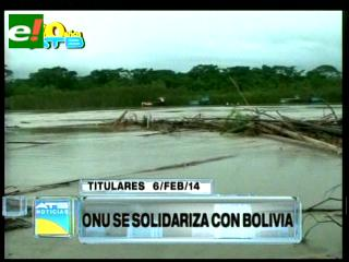 Titulares: ONU se solidariza con los damnificados por las inundaciones en el país