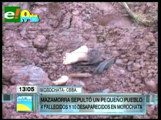Identifican a siete niños entre los 14 sepultados por alud en Morochata