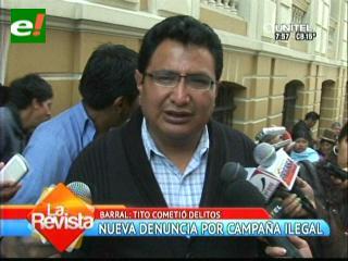 Uso indebido de bienes. Barral pide al TSE remitir antecedentes al Ministerio Público