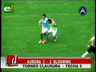 Aurora suma su primer triunfo en el Clausura