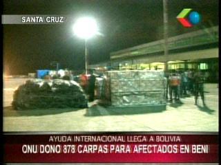 Bolivia recibe ayuda internacional ante las inundaciones