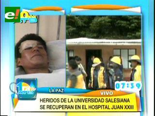 Número de heridos por desplome de tinglado en Universidad Salesiana sube a 13