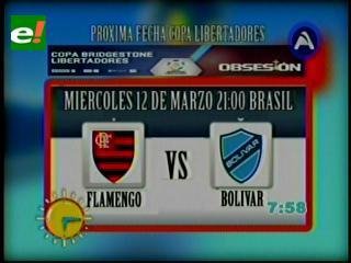 Bolívar y su nuevo DT visitan al poderoso Flamengo
