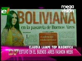 Claudia Lampe en la pasarela de Buenos Aires
