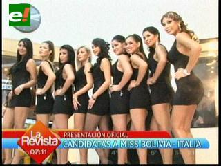 10 candidatas quieren ser Miss Bolivia Italia 2012