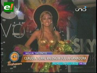Eligen a la más talentosa de Miss Bolivian Tropic