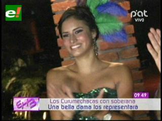 Nicole Guardia es la reina de la agrupación Curumechaca