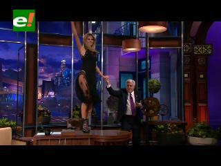 Heidi Klum le baila a Jay Leno