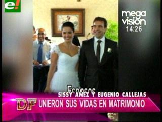 Sissi Añez y Eugenio Calleja contrajeron nupcias