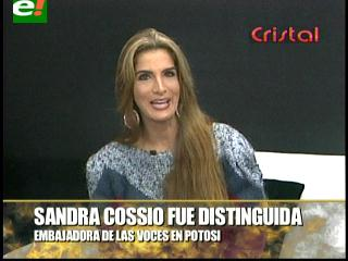 Sandra Coscío nombrada Embajadora de las voces en Potosí