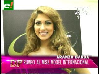Arantza Barba se llamará Bolivia en concurso internacional