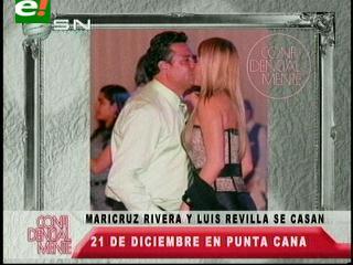 Luis Revilla y Maricruz Ribera se casarán en diciembre