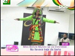 Los trajes que lucirá Miss Mundo Bolivia 2013 en Indonesia