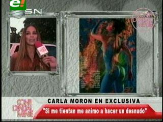 Carla Morón volvería a desnudarse para una campaña publicitaria
