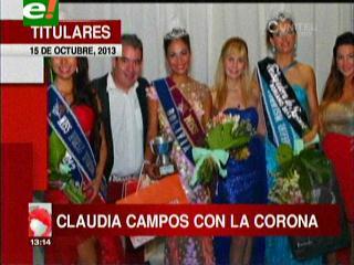 Claudia Campos ganó el Miss Turismo Universal 2013