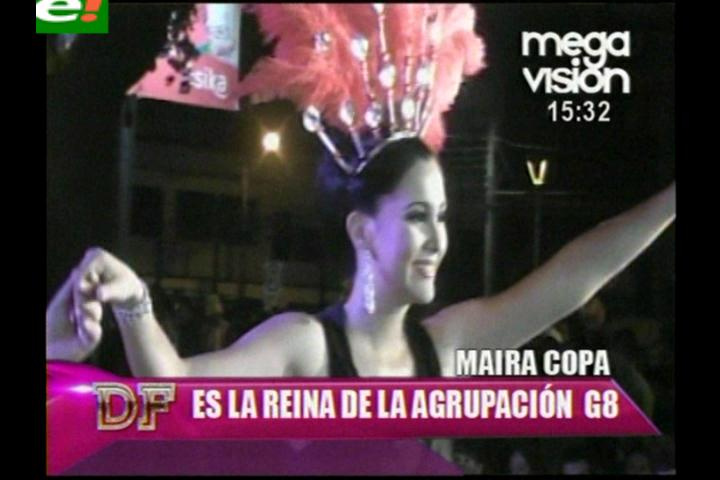 Mayra Copas, reina de la Agrupación Carnavalera G8