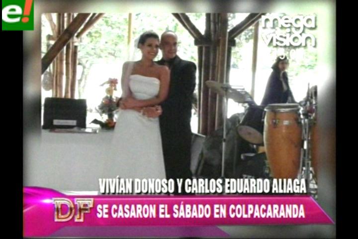 Vivian Donoso y Carlos Ernesto Aliaga se casaron