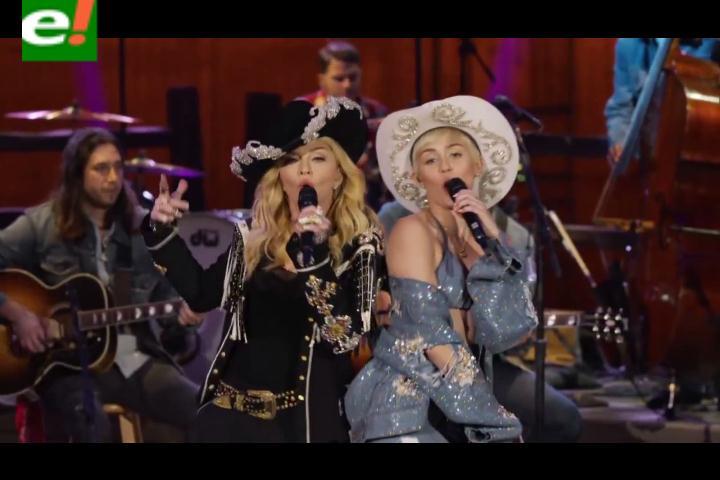 Miley Cyrus y Madonna cantaron juntas en el MTV Unplugged