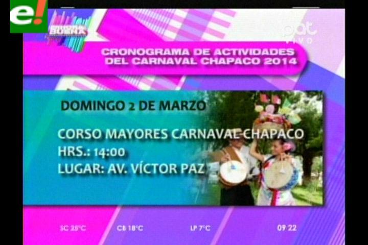 El carnaval chapaco elegirá a su reina 2014