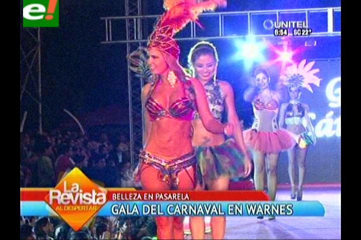 Warnes vivió una Gala Carnavalera llena de bellezas