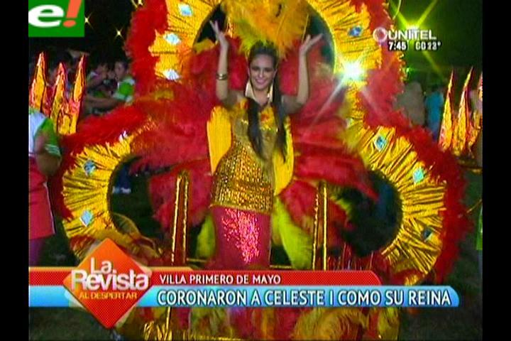 Villa Primero de Mayo coronó a su soberana del carnaval