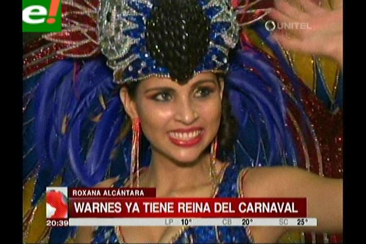 Warnes coronó a su reina del carnaval