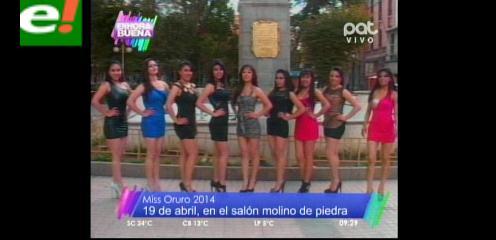 Presentan a las candidatas del Miss Oruro 2014