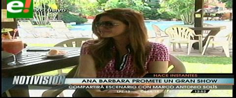 Ana Bárbara promete un gran show junto a Marco Antonio Solís
