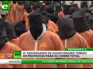 Noveno aniversario de Guantánamo teñido de protestas para su cierre total