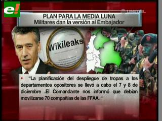 Plan para la Media Luna, revelado por Wikileaks