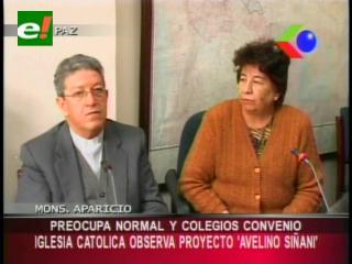 """Iglesia Católica observa proyecto de ley de educación """"Avelino Siñani"""""""