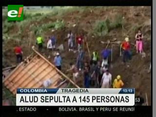 Alud de tierra sepulta a 145 personas en Colombia