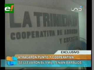 """Santa Cruz: Delincuentes atracan la Cooperativa """"La Trinidad"""""""