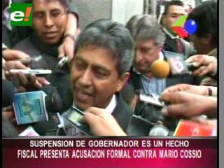Fiscal presentó una acusación formal contra Mario Cossío