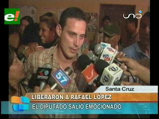 Diputado Rafael López salió libre con medidas sustitutivas