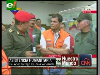 Ecuador entrega ayuda humanitaria a los damnificados de Venezuela