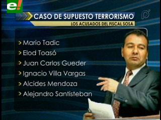 Soza presenta 39 imputaciones por el caso terrorismo