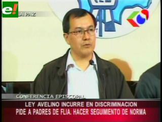 """Conferencia Episcopal de Bolivia califica de discriminatoria la Ley Educativa """"Avelino Siñani"""""""