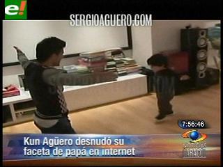 Kun Agüero desnudó su faceta de papá en internet