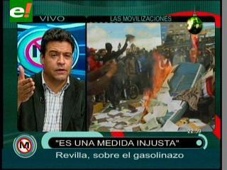 Luis Revilla niega que el MSM esté detrás de las movilizaciones contra el gasolinazo