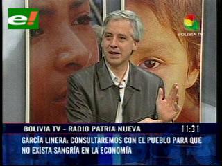 García Linera: «Algunos empresarios pagaron para formar grupos y generar violencia en La Paz y El Alto»