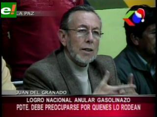 Juan Del Granado: «Abrogación del decreto 748 fue un logro nacional»