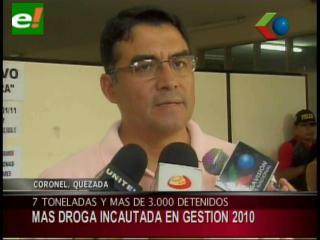 FELCN: 29 toneladas de cocaína y más de 3 mil detenidos en la gestión 2010