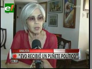 Susana Seleme: «Evo recibió un golpe político de los Movimientos Sociales»