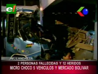 Rotura de frenos de un Autobús deja el saldo de 2 muertos y 12 heridos en La Paz