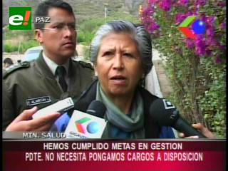 """Ministra de Salud: """"Presidente no necesita que pongamos nuestros cargos a su disposición"""""""