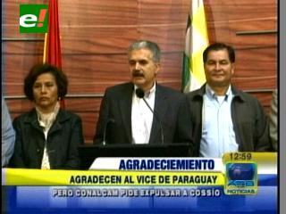 Oposición envía carta de agradecimiento al Vicepresidente del Paraguay