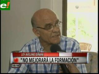 Álvaro Puente: «La Ley Avelino Siñani no mejorará la educación de nadie»