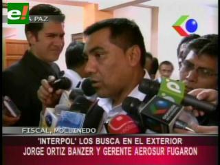 Fiscal confirma orden de aprehensión internacional contra el gerente de AeroSur Hércules de Souza